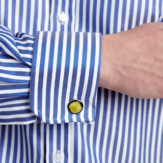 Conductor Stripe Shirt - Double Cuff by Thomas Pink