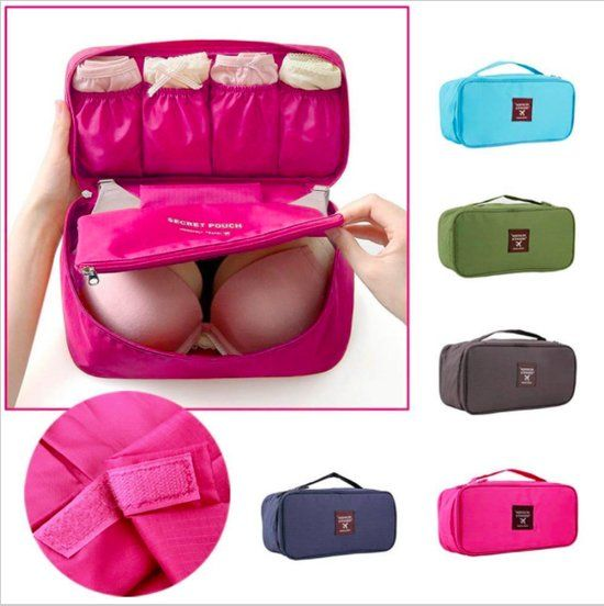 CoshX® Roze Portable Travel Reis Beha, ondergoed, Lingerie Organizer |Bag Cosmetic | Make up tas | Reis organiser | Toilettas Was Storage case | Baby tas