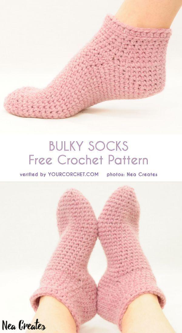 Bulky Socks Free Crochet Pattern | costura y patrones | Pinterest ...