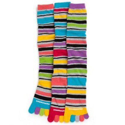 Amazon.com: Littlemissmatched Bright Lights Stripe Toe Socks