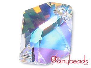 Crystal AB Swarovski Crystal Elements 6680 Cosmic Pendant 20mm  #Swarovski #SwarovskiCrystal #crystal #pendant #6680 #jewelrysupplies #anybeads