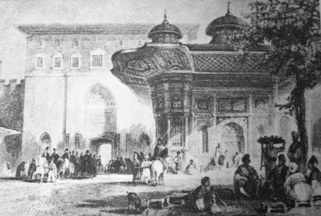 OĞUZ TOPOĞLU : sultan üçüncü ahmed sultanahmet çeşmesi gravürü - ...