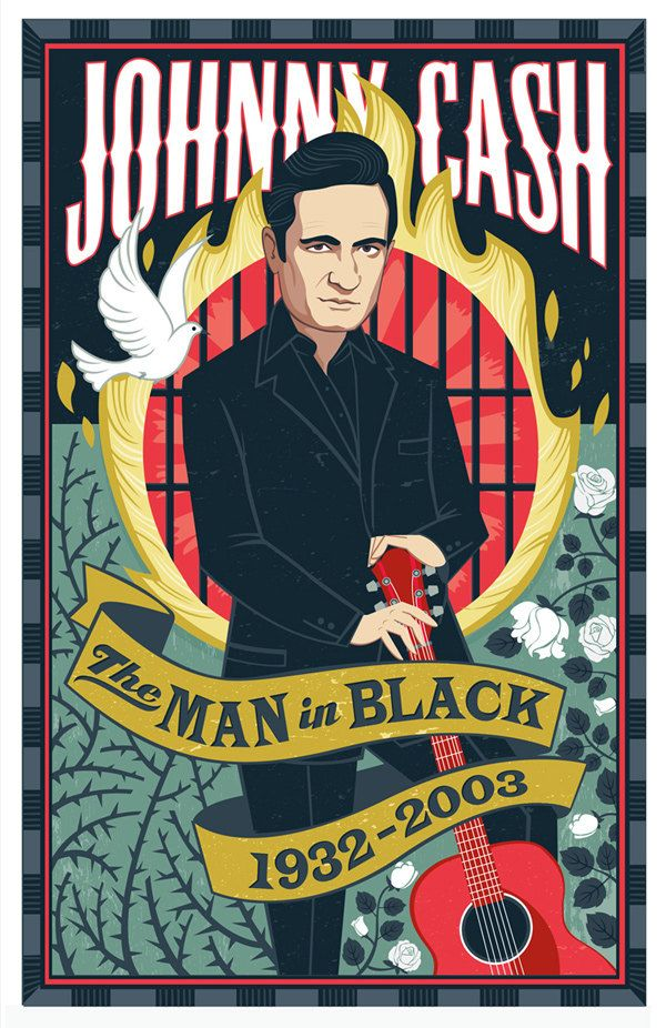 Love for Johhny Cash- Print of illustration