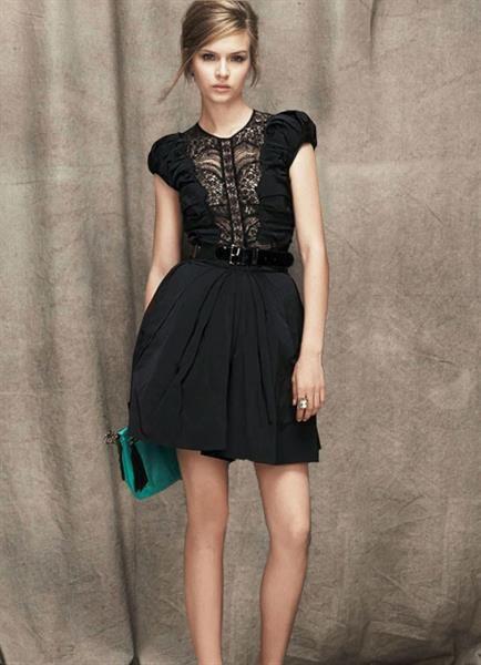 Чёрное платье годе