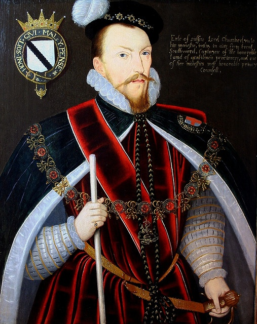 Thomas Radclyffe, Earl of Sussex, maternal cousin of Anne Boleyn, Katheryn Howard, and Elizabeth I  The Earl of Sussex was one of the ablest political figures in Tudor England, as witnessed by his ability to hold senior posts under all three monarchs in the latter half of the sixteenth century. This was a remarkable feat at a time when political pendulum swung violently between the Protestant Edward VI, the Catholic Mary I, and finally the Protestant Elizabeth I. by lisby1, via Flickr