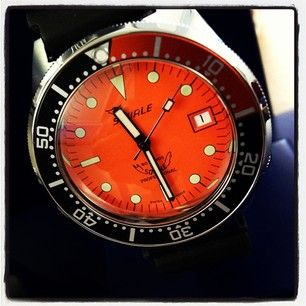 'Just as fruity': an orange dial #Squale 1521 #dive #watch, available from @page and Cooper