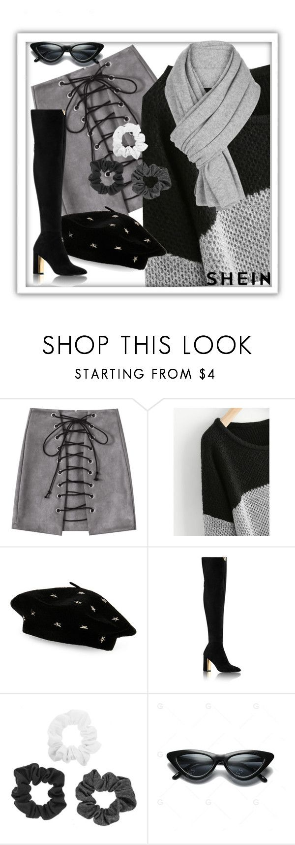 """""""SHEIN: WIN $30 COUPON!"""" by irene-sousa2 ❤ liked on Polyvore featuring Steve Madden and White + Warren"""