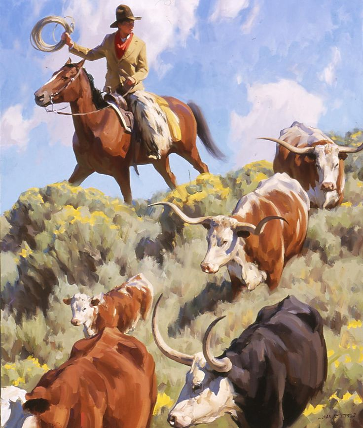 Western Paintings By Jimmy Dyer Art Western Art Painting