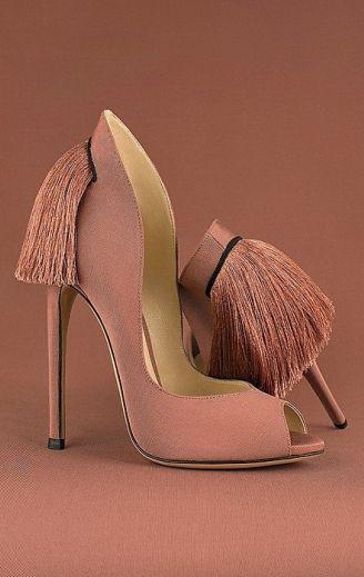 Вечерние темно-розовые туфли Aleksander Siradekian