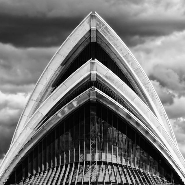 Opera House, Sydney Australia by Jørn Utzon Source: © Max Dupain courtesy of the Powerhouse Museum
