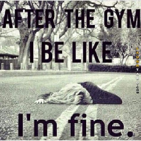 After the gym. The struggle is so real!  Some days lol!