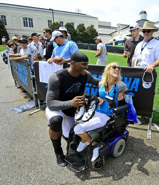 Cam Newton made this fan's day after training camp