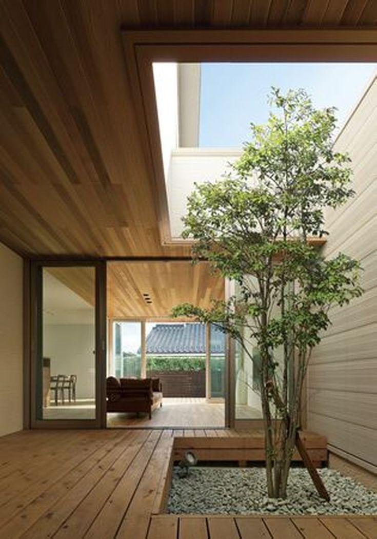 Amazing Artistic Tree Inside House Interior Designs Patio Interior Courtyard Gardens Design House Design House designs with interior courtyard