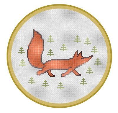 Sassy Fox. PDF Cross Stitch Pattern. $4.00, via Etsy.