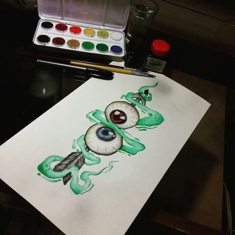 Eye newschool draw @nilton_medis