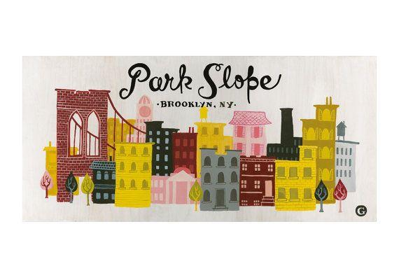 Cute print of my new neighborhood, Park Slope.