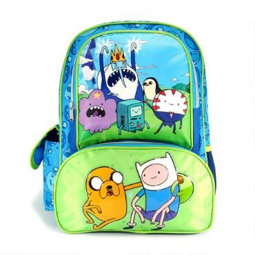 This Adventure Time backpack is a great accessory for school or travel and features a bright and colorful print of Finn, Jake and all their friends from the Land of Ooo.  With ample storage space, this backpack looks great and holds a lot of gear!