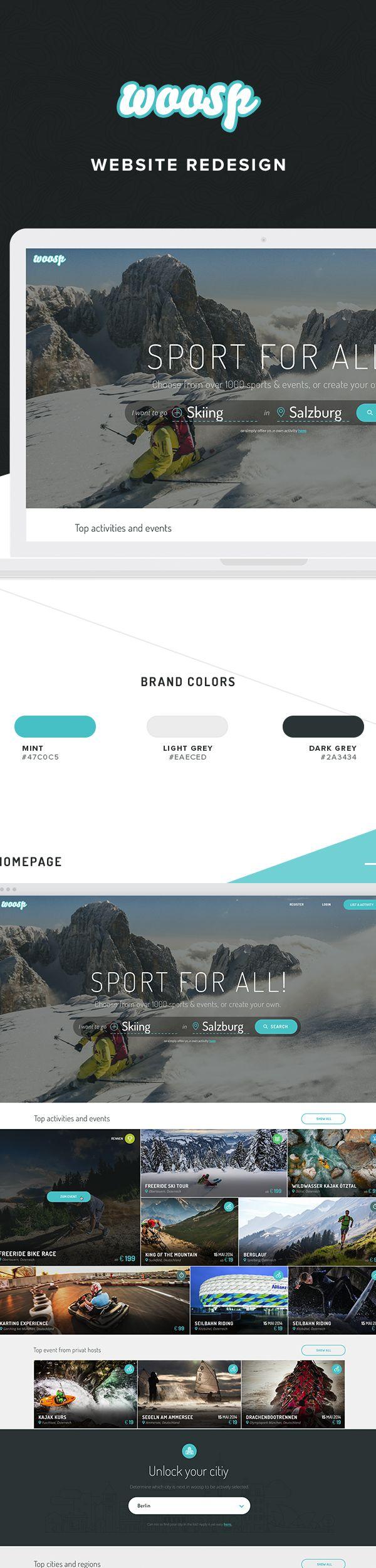 Woosp Website Redesign on Behance