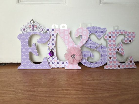 Sofia the First Nursery Wood Letters Nursery Decor 5-Inch Nursery Wooden Wall Letters Baby Girl Nursery Wall Letters by EmmaryDesign http://ift.tt/1MJrNA4