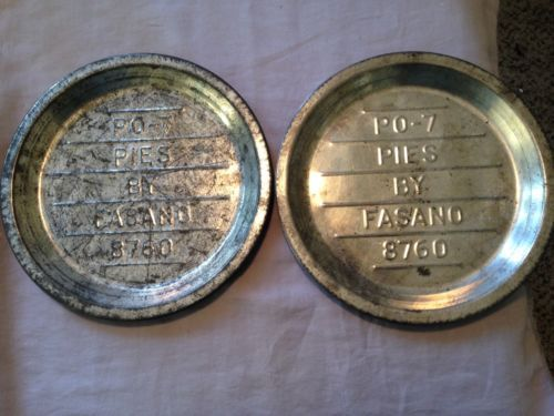 2 Vintage Pies By Fasano Pie Plates/Tins 9  Thick Steel PO-7 8760 & 20 best vintage tin pie plates images on Pinterest | Vintage tins ...