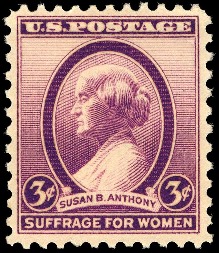 Susan B. Anthony 'Suffrage for Women', a commemorative .3¢ stamp issued in 1936
