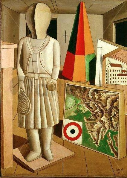 Painting by Carlo Carrà (1981-1966), 1917, The metaphysical muse.