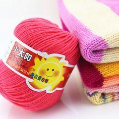 10 ballen (500g)/veel katoen gehaakte garen voor baby kleding/sjaal soft knit wol garen voor hand breien 6 005 in Te verlaten gelieve me een bericht en vertel me welke kleur u wilt, u kunt kiezen uit 10 kleuren in een partij, of wij s van garen op AliExpress.com | Alibaba Groep