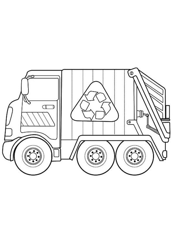 New Garbage Truck Coloring Page | Kids Coloring