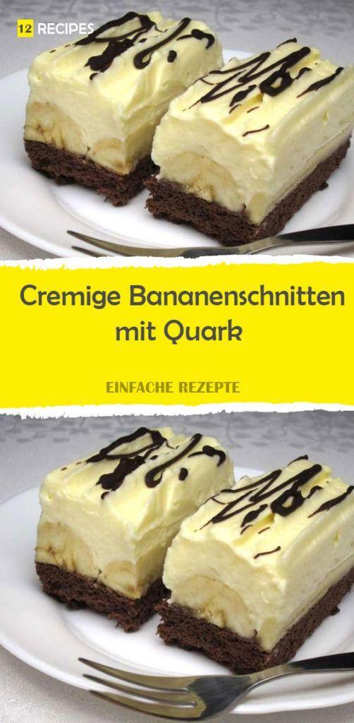 Cremige Bananenschnitten mit Quark 😍 😍 😍
