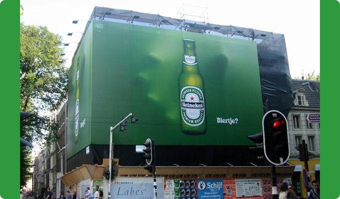 Heineken's 3D billboard