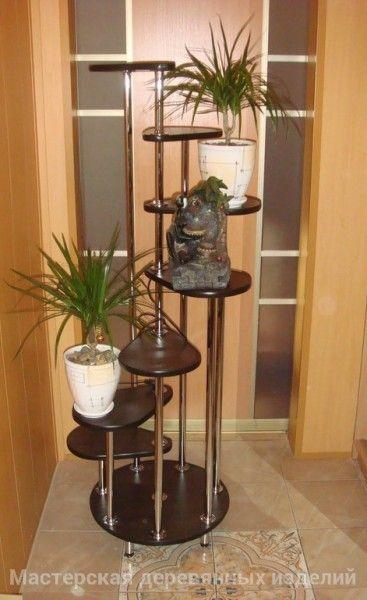 Подставка для цветов от компании Столярная мастерская деревянных изделий!!!