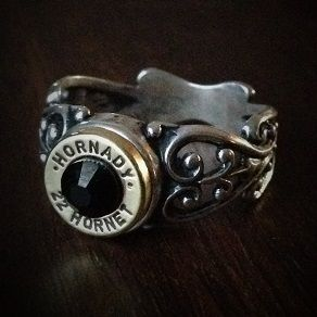 Women's .22 Hornet Filigree Sterling Silver Bullet Ring - Bullet Jewelry by JECTZ®