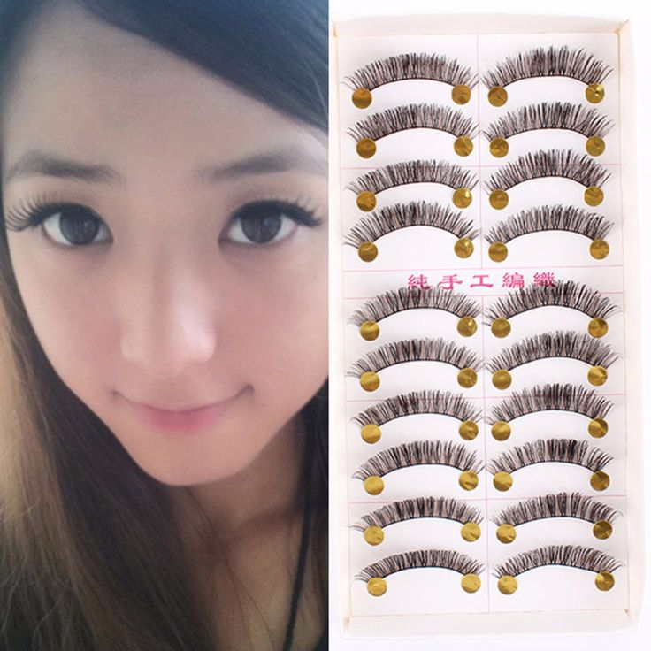 Bulk 10 Pairs Long Dense False Eyelashes Make up Fake Thick Black Brown Mink eyelashes Eye Lash Beauty maquiagem  #Affiliate