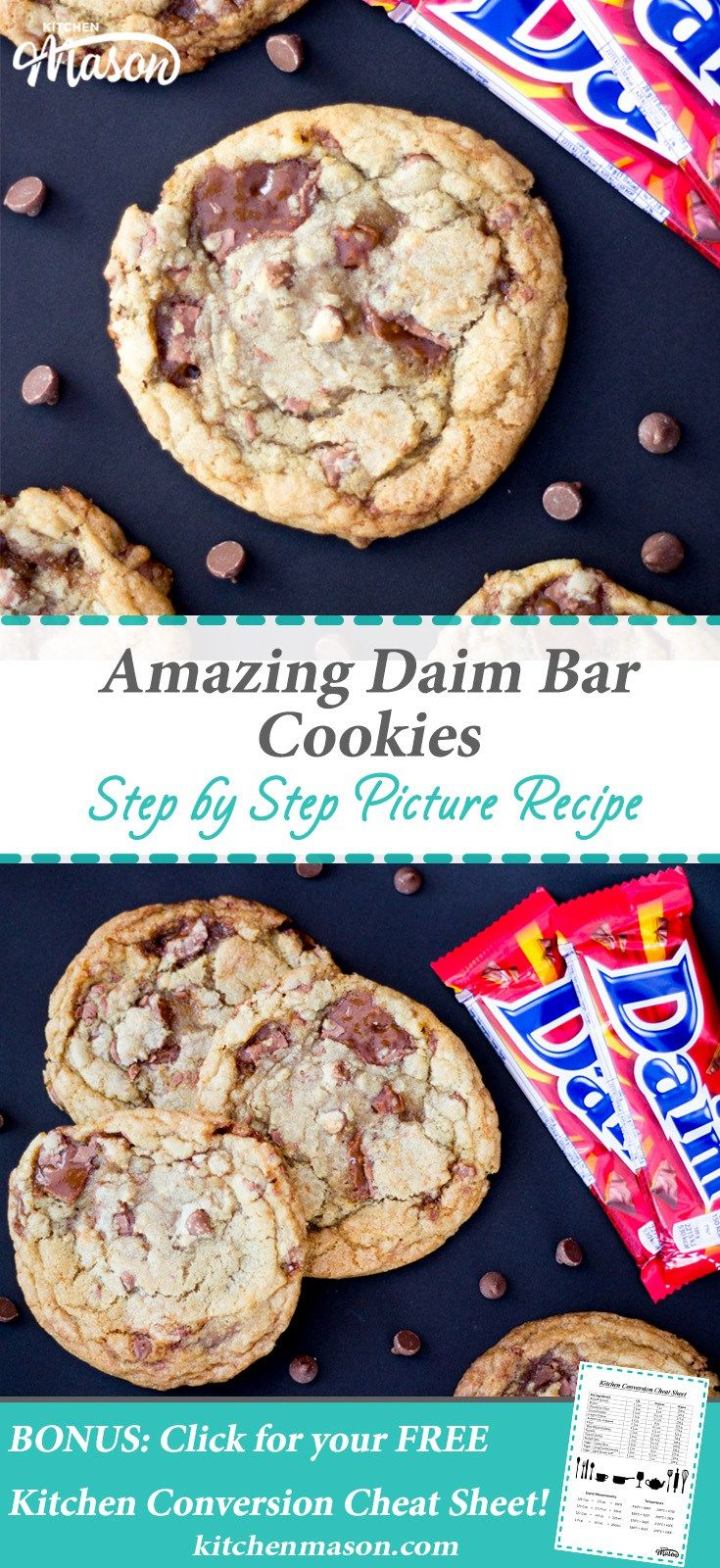 Daim Bar Cookies | Dime Bar | Chocolate Chip | Cookie Recipe | Best Ever