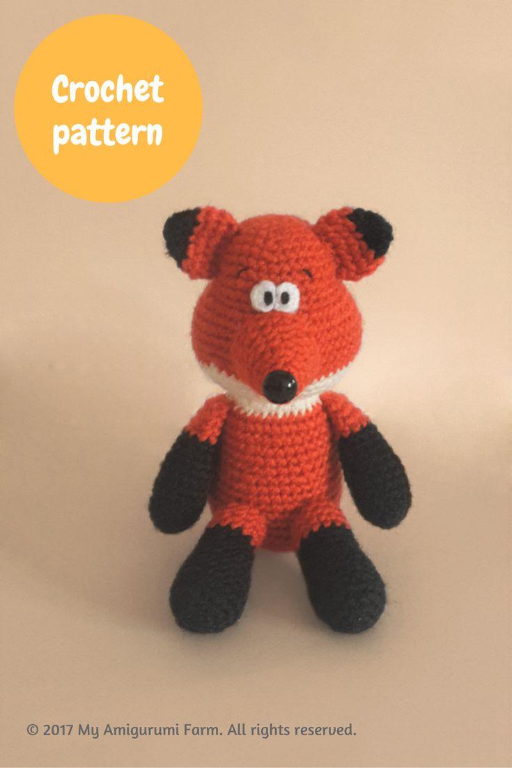 Crochet fox amigurumi pattern