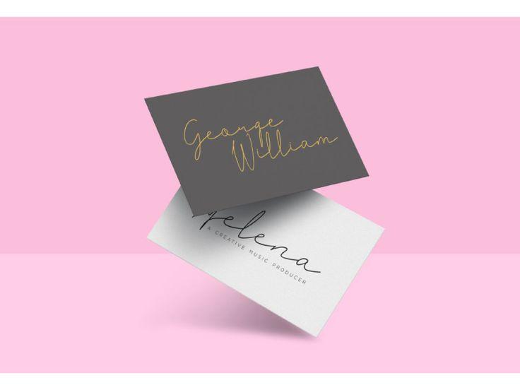 Fashion business card by Eldertype Studio