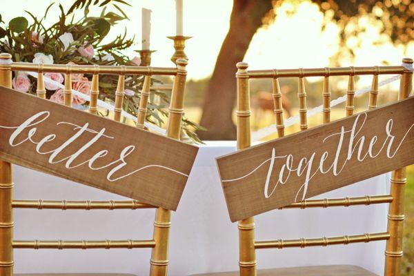 Tendencias para bodas 2016: tipografía #bodas #elblogdemaríajosé #decoraciónboda #tendenciasbodas