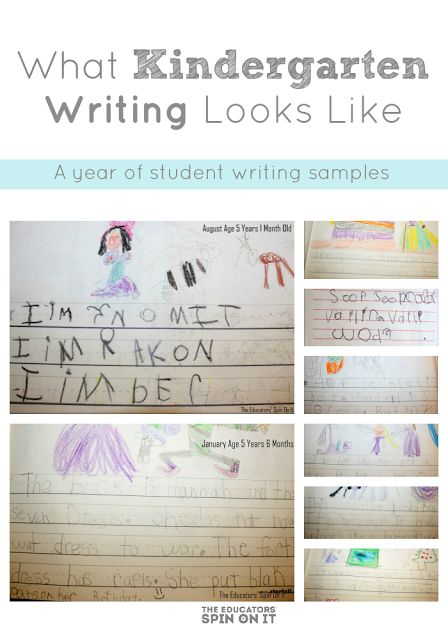 A glipse into kindergarten writing as it changes throughout the year, brief kindergarten writing standards overview and resources for teaching kindergarten writing.