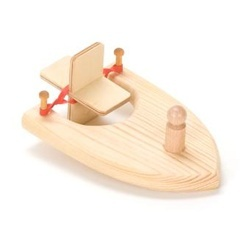 Wooden Paddle Boat Toy