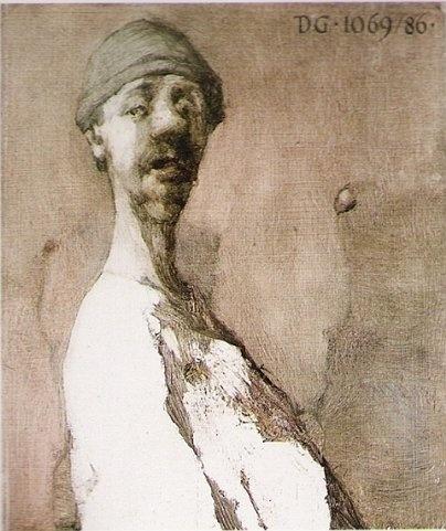 Jerzy Duda-Gracz - Autoportret - donkiszoteria bez górnej protezy (1986)