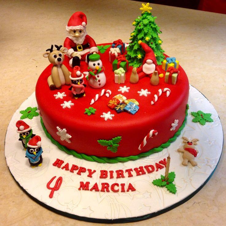 Xmas birthday cake