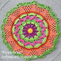 mandala crochet livre padrão mandala padrão livre crochet padrões gráfico ...