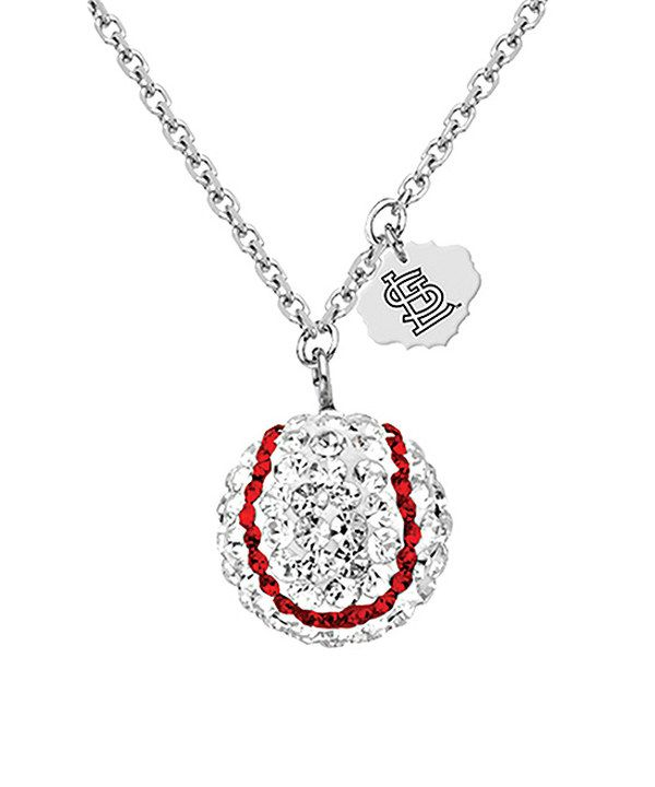 Look at this St. Louis Cardinals Austrian Crystal Baseball Pendant Necklace on #zulily today!