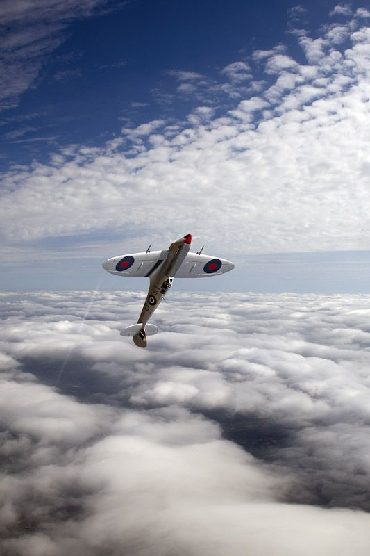 Silver Supermarine Spitfire. Find its history here: http://www.raf.mod.uk/bbmf/theaircraft/silverspitfire.cfm