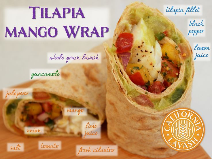 Wrap Up Your Week With A Baked Tilapia Fillet And Mango Pico De Gallo In Whole
