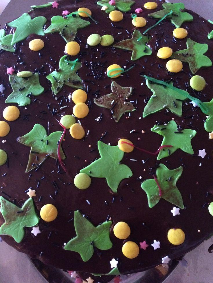 """Viltvoksende eføy"" -barnas skogbunn-kake"