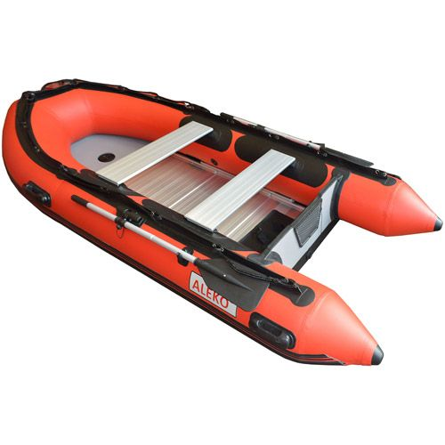 Boat Finder, Accecoris and Parts: Red ALEKO Inflatable Boat with Aluminum Floor 5-Pe...