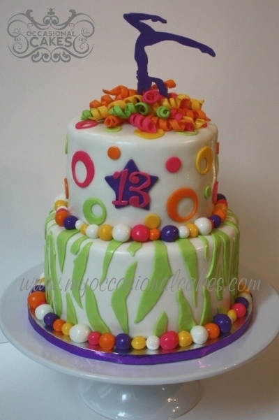 Gymnast 13th Birthday By MyOccasionalCakes on CakeCentral.com