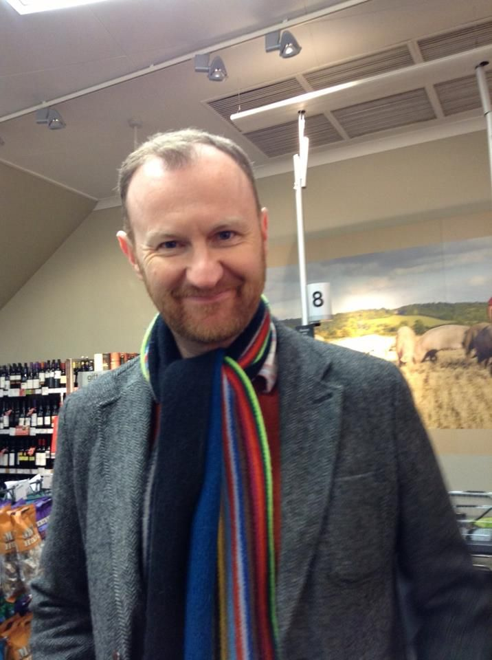 Mark Gatiss - taken in M&S Darlington, December 2012, not that I was excited about seeing him!!!