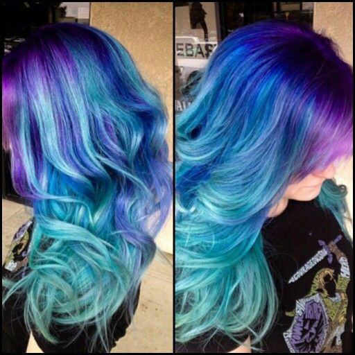 get this look by using pigments, wet a makeup brush ...dip in pigment (like paint) paint the hair and than flat iron. voilla